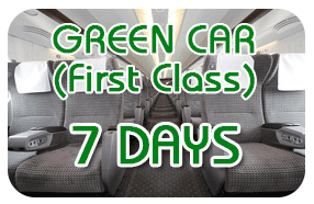 Japan Rail Pass [7 days] - GREEN CAR(1st Class)